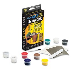 Master Caster - 18084 - Master Mfg. Co ReStor-It Quick20 Fix-A-Chip Repair Kit - 7 Intermixable Colors, Mixing Cup, Applicator, Color Mixing Guide