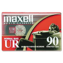 Maxell - 108510 - Maxell UR Type I Audio Cassette - 1 x 90 Minute - Normal Bias