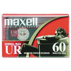 Maxell - 109010 - Maxell UR Type I Audio Cassette - 1 x 60 Minute - Normal Bias