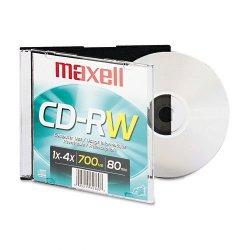 Maxell - 630010 - Maxell 4x CD-RW Media - 650MB - 1 Pack