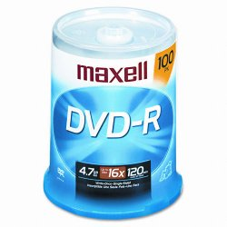 Maxell - 638014 - Maxell 16x DVD-R Media - 120mm