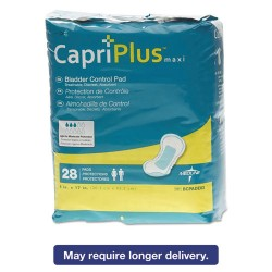Medline - BCPE03 - Capri Plus Bladder Control Pads, Ultra Plus, 8 x 17, 28/Pack