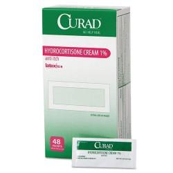 Medline - CUR015408 - Hydrocortisone Cream, 0.007 oz Foil Packet, 48/Box