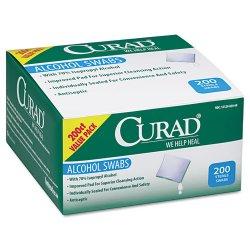 Medline - CUR45581RBI - Alcohol Swabs, 1 x 1, 200/Box