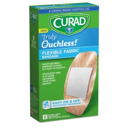 Medline - CUR5003 - Ouchless Flex Fabric Bandages, 1.65 x 4, 8/Box