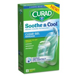Medline - CUR5236 - Soothe & Cool Clear Gel Bandages, Assorted, Clear, 8/Box