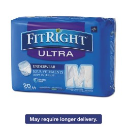 Medline - FIT23005A - FitRight Ultra Protective Underwear, Medium, 28-40 Waist, 20/Pack