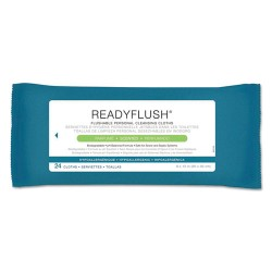 Medline - MSC263810CT - ReadyFlush Biodegradable Flushable Wipes, 8 x 12, 24/Pack, 24 Pack/Carton
