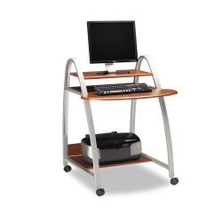 Mayline - 971MEC - Mayline 971 Mobile Arch Computer Desk - 31.50 Table Top Width x 28.50 Table Top Depth - 39 Height - Assembly Required - Medium Cherry, Metallic Gray, Powder Coated