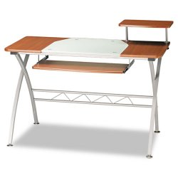 Mayline - 972MEC - Mayline Eastwinds 972 Vision Computer Desk - Cross Base - 34 Height x 47.25 Width x 23.75 Depth - Assembly Required - Medium Cherry