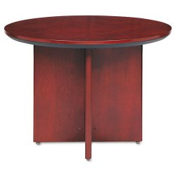 Mayline - CTRNDCRY - Mayline Corsica Veneer Round Table - Round Top - 2 Table Top Thickness x 42 Table Top Diameter - 29.50 Height - Assembly Required - Sierra Cherry