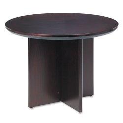 Mayline - CTRNDMAH - Mayline Corsica Veneer Round Table - Round Top - 2 Table Top Thickness x 42 Table Top Diameter - 29.50 Height - Assembly Required - Mahogany