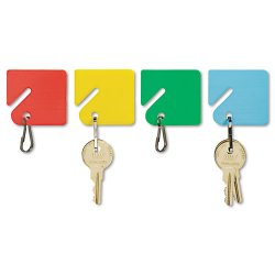 MMF Industries - 2013004W47 - Slotted Rack Key Tags, Plastic, 1 1/2 x 1 1/2, Assorted, 20/Pack