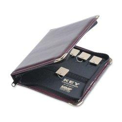 MMF Industries - 201502417 - MMF Carrying Case for Key - Burgundy - Vinyl - 8.8 Height x 7 Width x 1.3 Depth
