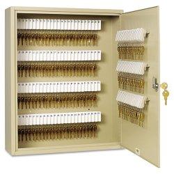 MMF Industries - 201920003 - Uni-Tag Key Cabinet, 200-Key, Steel, Sand, 16 1/2 x 4 7/8 x 20 1/8