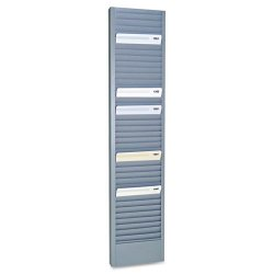 MMF Industries - 20601 - MMF Heavy-duty Swipe Card Rack - 40 Compartment(s) - 18.7 Height x 4.1 Width x 1 Depth - Wall Mountable - Recycled - Gray - Steel - 1Each