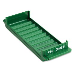 MMF Industries - 212081002 - Porta-Count System Rolled Coin Plastic Storage Tray, Green