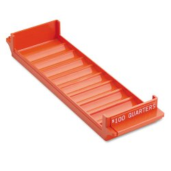 MMF Industries - 212082516 - Porta-Count System Rolled Coin Plastic Storage Tray, Orange