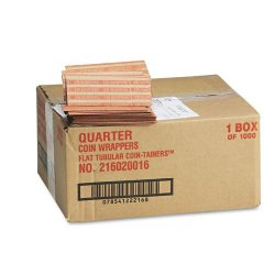 MMF Industries - 216020016 - Flat Coin Wrappers, Quarters, $10, 1000 Wrappers/Box
