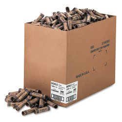 MMF Industries - 2160600B08 - Preformed Tubular Coin Wrappers, Nickels, $2, 1000 Wrappers/Box