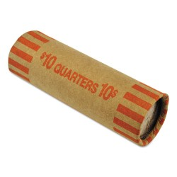 MMF Industries - 2160640D16 - Nested Preformed Coin Wrappers, Quarters, $10.00, Orange, 1000 Wrappers/Box