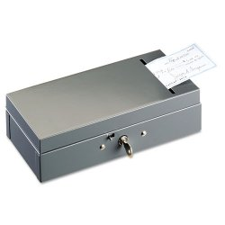 MMF Industries - 221104201 - Steel Bond Box with Check Slot, Disc Lock, Gray