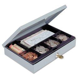 MMF Industries - 221618001 - Cash Box, Gray, 11-1/4x7-1/2x2