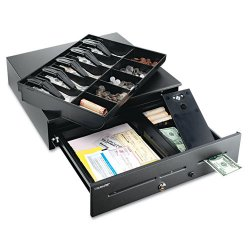 MMF Industries - 2251060GT04 - High-Security Cash Drawer, 18 x 16 3/4 x 4 3/4, Black