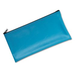 MMF Industries - 2340416W38 - MMF Zipper Top Wallet Bags - 11 Width x 6 Length x 16 mil (406 Micron) Thickness - Blue - Vinyl - 1Each - Multipurpose