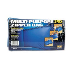 MMF Industries - 234110638 - MMF Industries(TM) 234110638 Leatherette Zipper Wallet (3 pk; Blue)