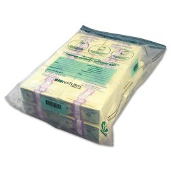 MMF Industries - 234400120 - MMF Bio-Natural Twin Deposit Bags - Clear - 5/Pack - Currency, Check, Deposit Slip