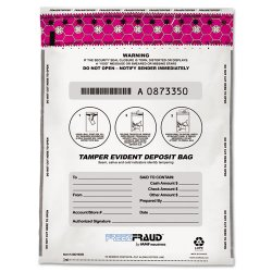 MMF Industries - 236210306 - MMF White FreezFraud Deposit Bags - 9 Width x 12 Length - White - Polyethylene - 100/Box - Currency