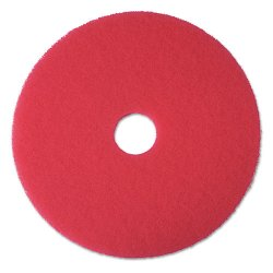 3M - 5100 - 15 Red Buffing and Cleaning Pad, Non-Woven Polyester Fiber, Package Quantity 5