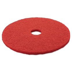 3M - 5100 - 14 Red Buffing and Cleaning Pad, Non-Woven Polyester Fiber, Package Quantity 5