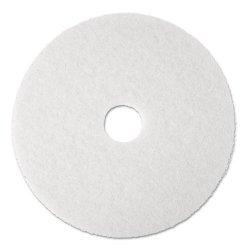 3M - 4100 - Super Polish Floor Pad 4100, 17 Diameter, White, 5/Carton