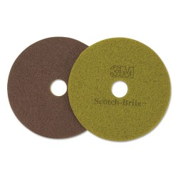 3M - 17018 - Diamond Floor Pads, 19 Diameter, Sienna, 5/Carton