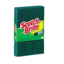 3M - 223 - Scotch-Brite -Brite Heavy Duty Scour Pads - 0.9 Height x 6.3 Width x 3.9 Depth - 3/Pack - Synthetic Fiber - Green