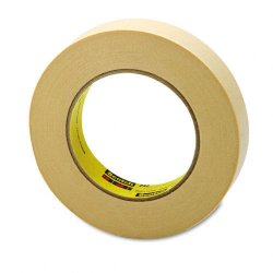 3M - 232-1 - Scotch 232 High-performance Masking Tape - 1 Width x 60 yd Length - 3 Core - Rubber Backing - 1 Roll - Tan