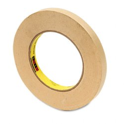3M - 232-1/2 - 3M Scotch High Performance Masking Tape - 0.47 Width x 60.15 yd Length - 3 Core - Rubber Backing - Removable - 1 Roll - Tan