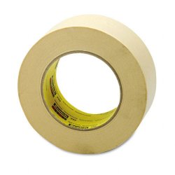 3M - 2322 - Scotch 232 High-performance Masking Tape - 2 Width x 60 yd Length - 3 Core - Rubber Backing - 1 Roll - Tan
