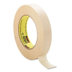 3M - 234-1 - Scotch General Purpose Masking Tape - 1 Width x 60 yd Length - 3 Core - Rubber Backing - 1 Roll - Tan