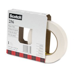 3M - 25634 - Scotch Flatback Write-On Paper Tape - 0.75 Width x 60 ft Length - 3 Core - Paper - 6.70 mil - Rubber Backing - Writable Surface - 1 Roll - White