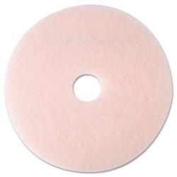 3M - 25857 - Ultra High-Speed Eraser Floor Burnishing Pad 3600, 19 Diameter, Pink, 5/Carton