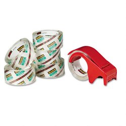 3M - 36506DP3 - Scotch Long Lasting Storage Packaging Tape w/Dispenser-6 pack - 1.88 Width x 54.60 yd Length - 3 Core - Acrylic - Dispenser Included - 6 / Pack - Clear