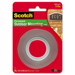 3M - 410P - Exterior Weather-Resistant Double-Sided Tape, 1 x 60, Gray