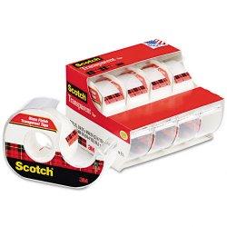 3M - 4184 - Scotch Transparent Tape - 0.75 Width x 70.83 ft Length - 1 Core - Photo-safe, Transparent - Dispenser Included - Handheld Dispenser - 4 Roll - Clear