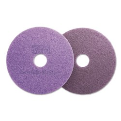3M - 47950 - Diamond Floor Pads, 16 Diameter, Purple, 5/Carton