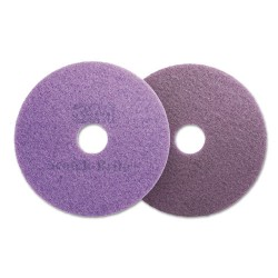 3M - 48196 - Diamond Floor Pads, 19 Diameter, Purple, 5/Carton
