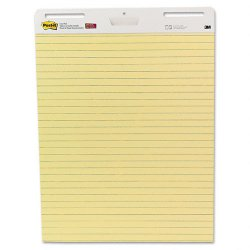3M - 561 - Self Stick Easel Pads, Ruled, 25 x 30, Yellow, 2 30 Sheet Pads/Carton