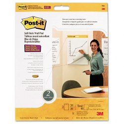 3M - 566 - Post-it Easel Pads Super Sticky Self-Stick Wall Pads (Carton of 4)